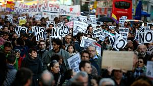 Protests in Spain against budget plans