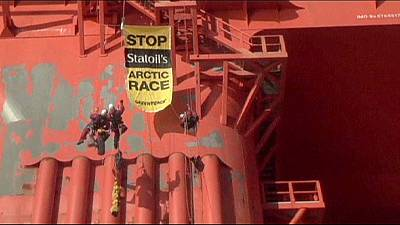 Greenpeace protests at Arctic oil drilling