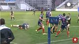 British and French navy rugby match breaks into mass fight