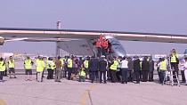 Solar Impulse 2 lands in Cairo after flying over Egyptian pyramids