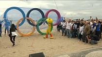 Sustainable Olympic rings unveiled on Rio beach