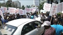 [Video] Uber taxi drivers protest against falling transport fares in Kenya