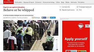 Nigeria 'disciplines' the Economist over 'Behave or be whipped' story