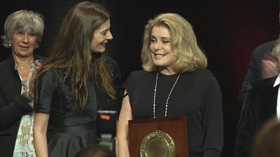 Catherine Deneuve wins Lumiere Award