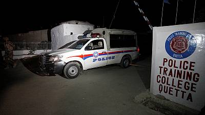 Gunmen storm a police training college in Pakistan