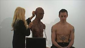 Dancer Sergei Polunin sits for sculptor Frances Segelman