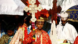 Ethiopian orthodox Christians mark the baptism of Jesus Christ