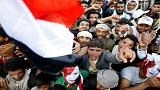 Drone footage shows over 100, 000 Houthi supporters at Sanaa rally