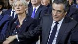 "Penelope Fillon, the wife of French presidential candidate Francois Fillon, has been placed under formal investigation as part of a ""fake"" jobs scandal (Reuters)"