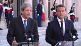France's Macron and Italy's Gentiloni present a united front over EU