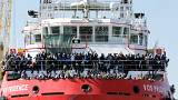 Massive migrant rescue off Italy as G7 ended