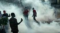 Togo police fire tear gas during anti government protests [no comment]
