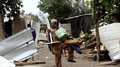 Abidjan a entamé les opérations de déguerpissement autour de l'aéroport