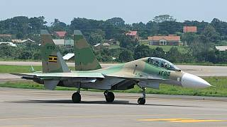 Ugandan air force jet crashes killing two