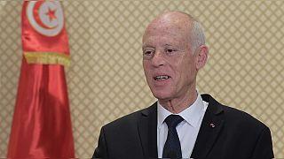 Le président tunisien à Alger pour son premier voyage officiel à l'étranger