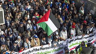 Moroccans protest against U.S Middle East Peace Plan