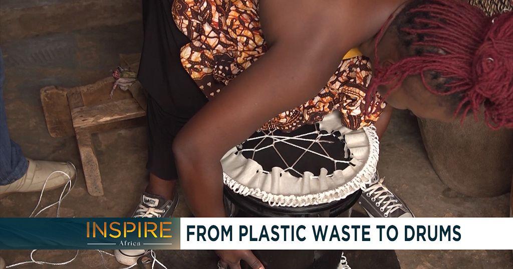 The Ugandan singer turning plastic waste into drums | Africanews