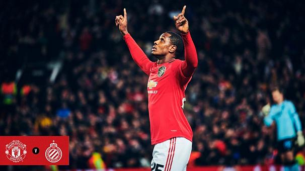 Nigerians celebrate Ighalo's first goal for Manchester United