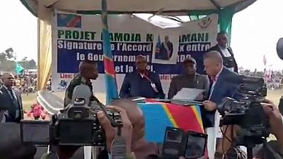 RDC: signature d'un accord de paix avec un groupe armé (médias)