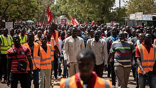 Burkina Faso civil servants protest wage cuts