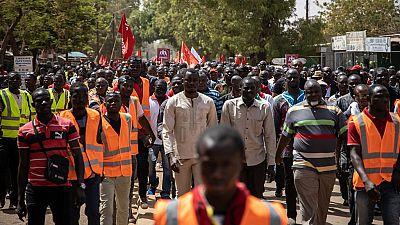 Burkina Faso civil servants protest wage cuts