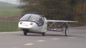 Wind and solar powered car