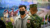 Taiwan soldiers in virus cluster infection drill [No Comment]