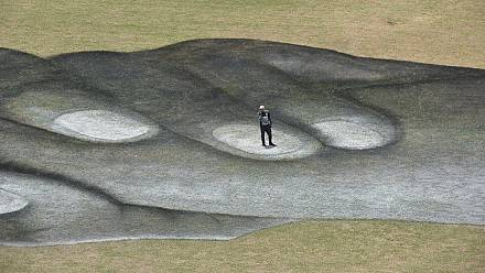 French 'land-artist' uses Yamoussoukro's Basilica grounds as his canvas [No Comment]