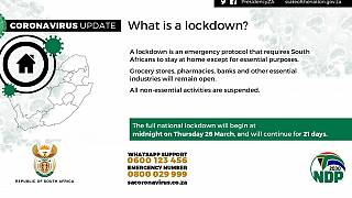 South Africa announces 21-day nationwide lockdown over COVID-19 spike