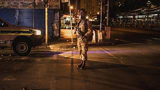 South Africa military arrest lockdown breakers
