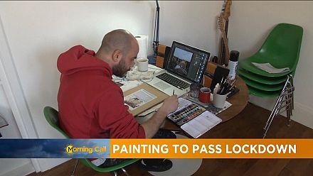 Painter turns isolation into art