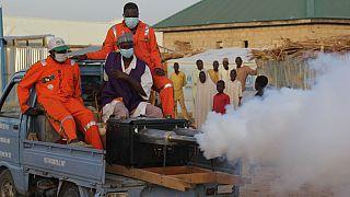 Nigerian authorities fumigate IDP camp in Maiduguri to stem virus spread [No Comment]