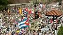 Mass protest in Miami for Cuban political prisoners