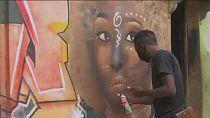 Nigerian artist uses graffiti to inspire youth