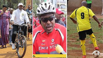 Bikes, balls, boots with Nkurunziza: Burundi's sportsman president