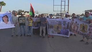 Protest against Turkish interference in Libya