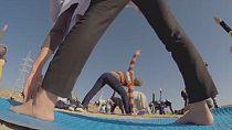 Kabul marks international Yoga Day