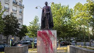 Paris statue of colonial governor defaced amid anti-racism protests