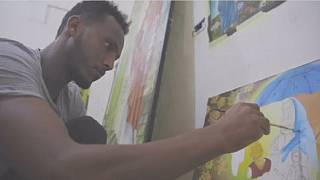 Eritrean refugee in Libya finds solace in art