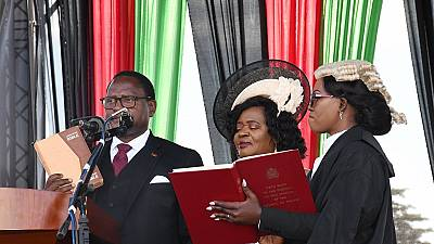 Malawi swears in new president Lazarus Chakwera