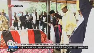 Funeral held for slain Ethiopian singer