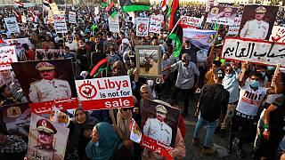 Protest against Turkish intervention in Benghazi