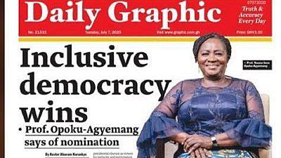 Ghana : l'opposition choisit la première femme candidate à la vice-présidence