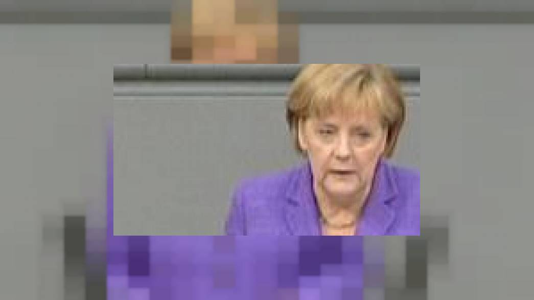 "Merkel says euro ""in danger"""