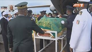 Remains of late Ivorian PM arrives for burial in his hometown