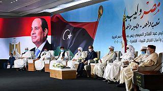 Egyptian president meets Libya's tribal leaders