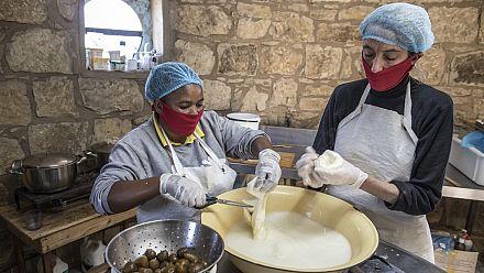 Une fromagerie artisanale en Afrique du Sud