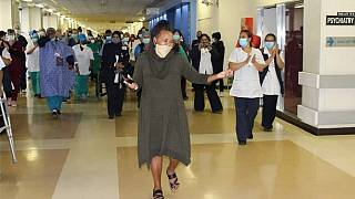 77-days in hospital: South African woman dances after virus recovery