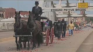 Body of John Lewis makes final Selma Bridge crossing