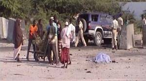 Mogadishu airport hit by twin suicide bombings